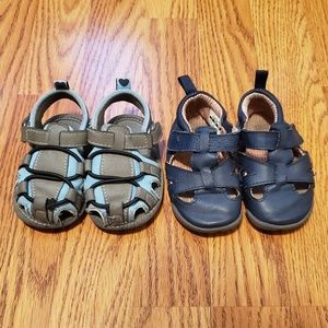 Set of 2 Toddler Sandals, Size 3.5